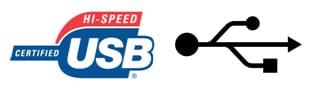 USB Symbol und Zeichen 2.0