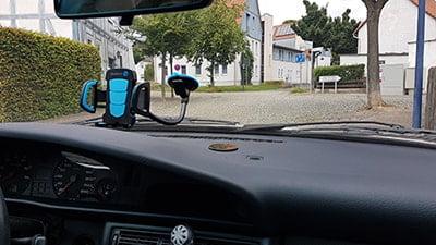 Muvercon Handyhalterung im Einsatz