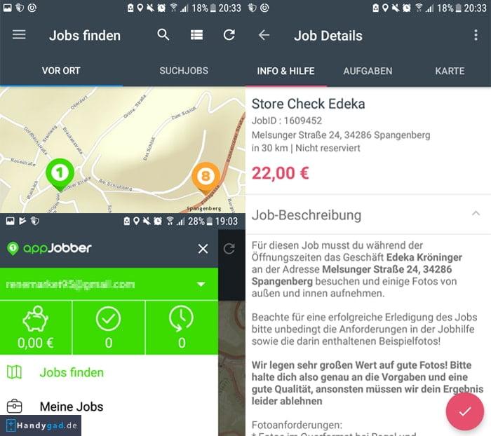 appJobber - Einfach unterwegs Geld verdienen