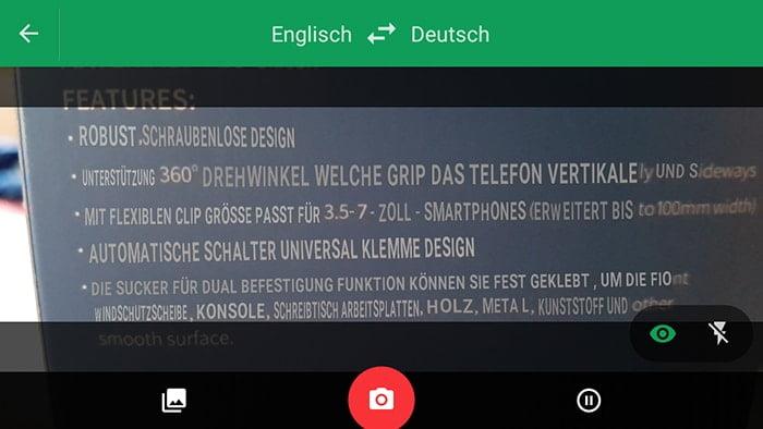 Word Lens - Übersetzung mit der Kamera