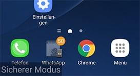 Samsung Galaxy S7 mit Android 7 im Sicheren Modus