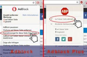 Ausnahmeregel beim Adblock & Adblock Plus hinzufügen