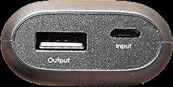 Aukey Mini Powerbank 5000mAh PB-N41 Anschlüsse