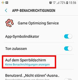 Game Optimizing Service Benachrichtigungen deaktivieren