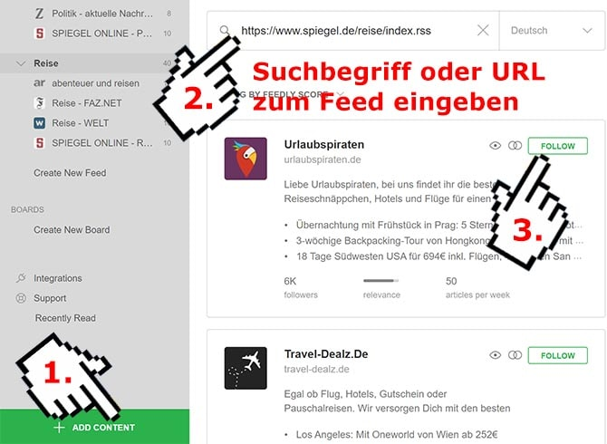 RSS-Feed abonnieren - Feedly