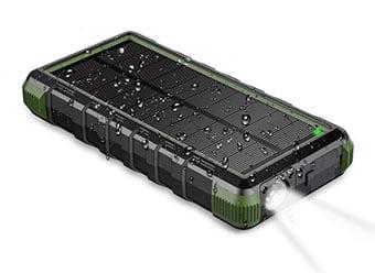 Wasserfeste Solar Powerbank.